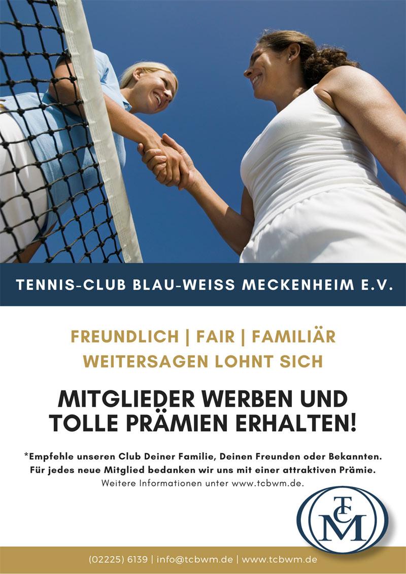 Tennis-Club Blau-Weiß Meckenheim Mitglieder werben